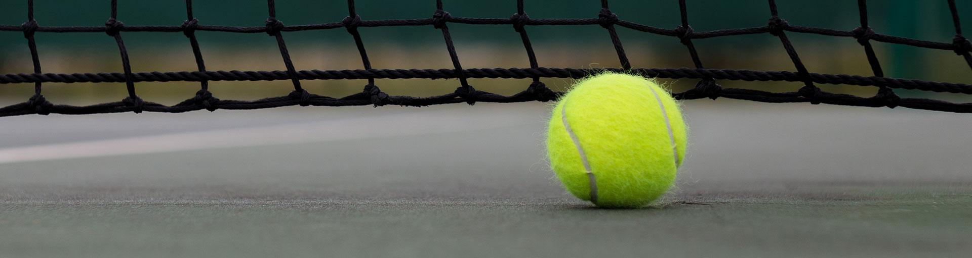 Indoor Tennis Banner Saw Creek Estates